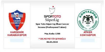 Kardemir Karabükspor – Atiker Konyaspor Futbol karşılaşması