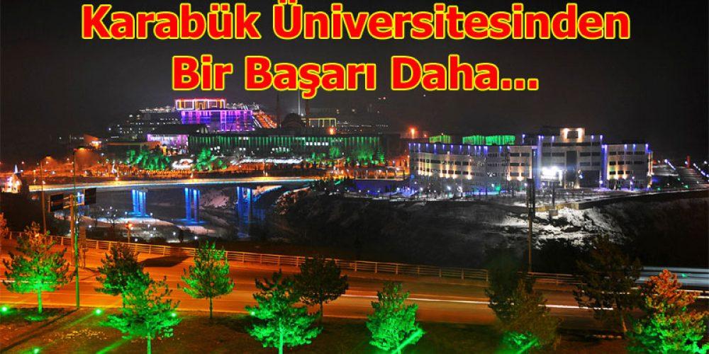 Karabük Üniversitesinden bir başarı daha
