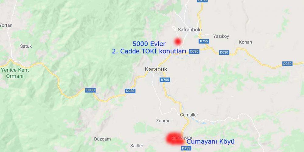 Karabük'te Karantina Bölgeleri