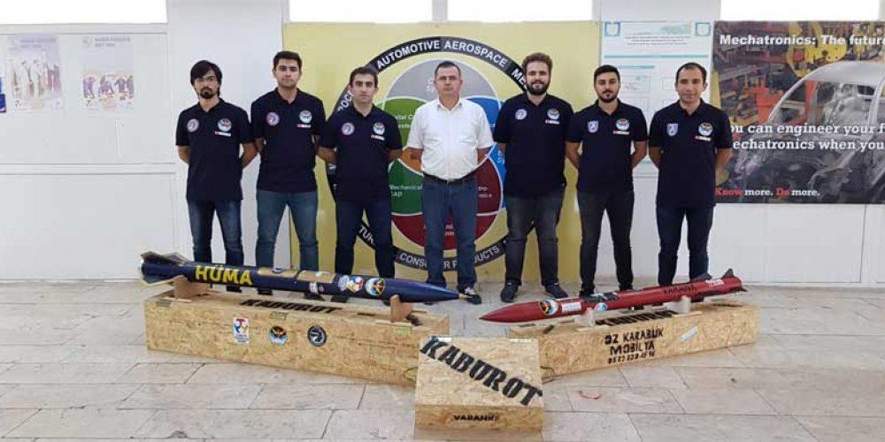 KBÜ Roket Takımı Teknofest'te iki kategoride ödül aldı