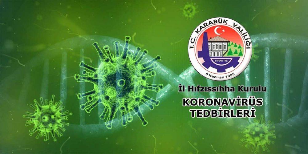 İl Hıfzısıhha Kurulu Koronavirüs Tedbirleri