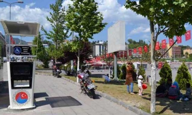 Engelli Aracı Şarj İstasyonu – Kent Meydanı otobüs durağı